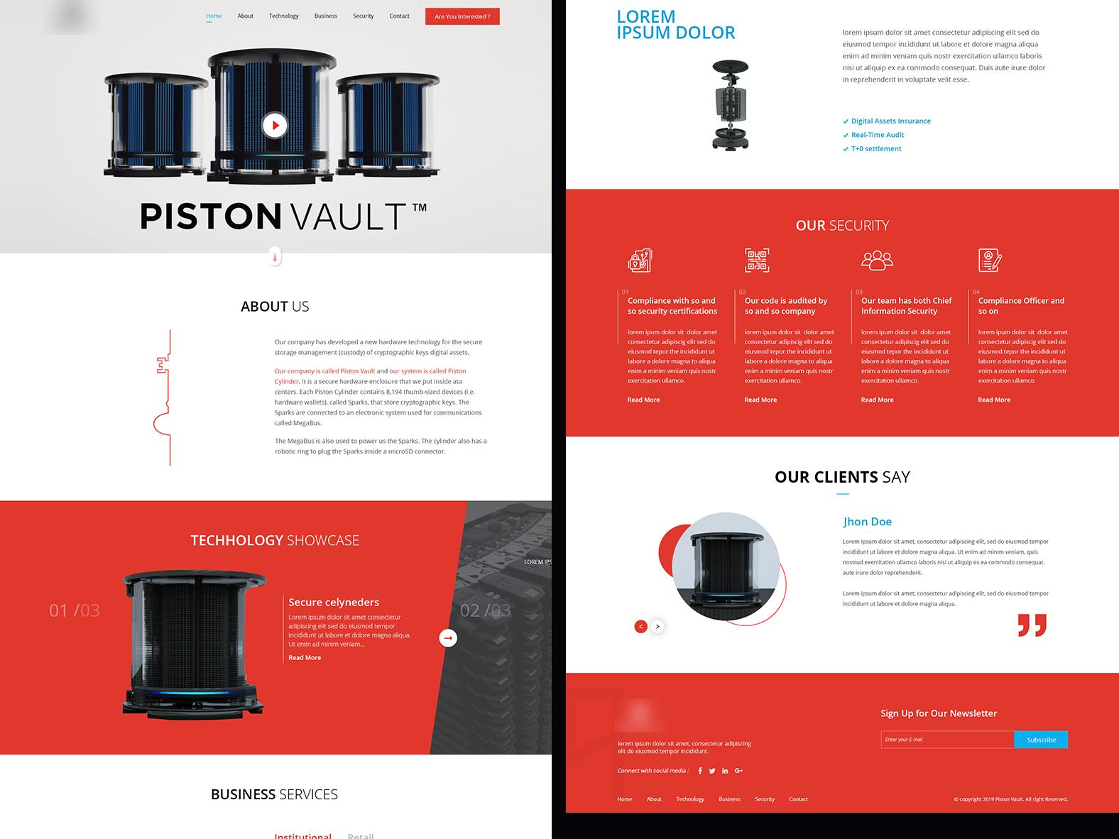 Piston ux website web ui design