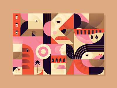 36 days of type 2/6 completed ;) cubism abstract geometry building flat miguelcm illustration