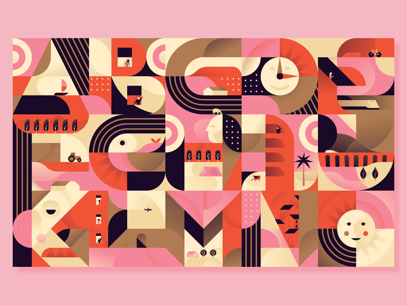 15 letters completed! letter type typography 36daysoftype scene dailychallenge illustration illustrator miguelcm