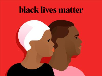 Black lives matter stopracism blacklivesmatter characters illustration flat illustrator miguelcm