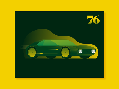 A new version of this Honda honda electric car vehicle flat illustration illustrator miguelcm