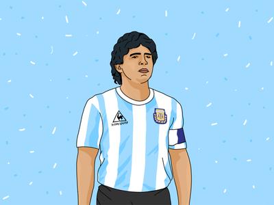 'Gracias a la pelota' – Diego Maradona, 1968-2020 maradona football procreate illustration miguelcm