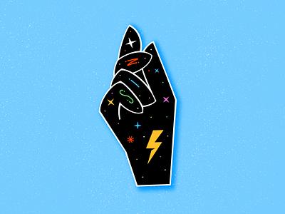 Sin neon midcentury hand procreate ipadproart illustration miguelcm