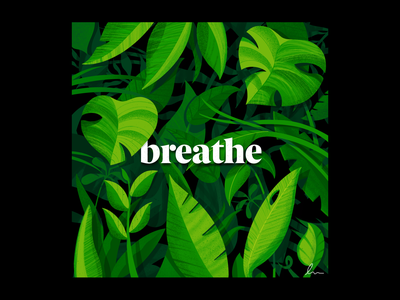 Breathe plants procreate weekly warm-up earthday illustration miguelcm