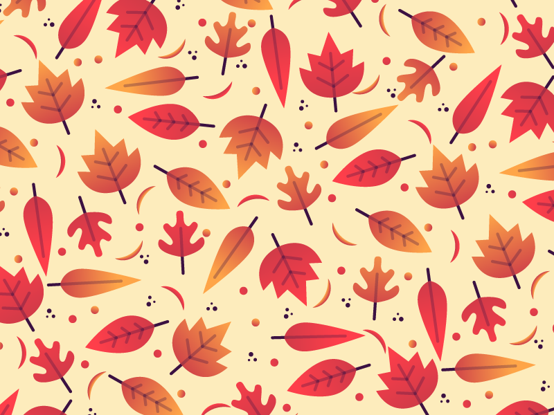 Autumn Pattern country nature fall autumn leaves illustrator illustration miguelcm