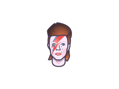 RIP Bowie ziggy stardust aladdin sane artist music face david bowie illustration illustrator miguelcm