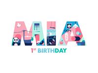 Mia 1st birthday card x miguelcm 01