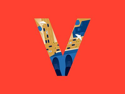 V | vertigo vertigo v typography type letter 36daysoftype illustrator illustration miguelcm