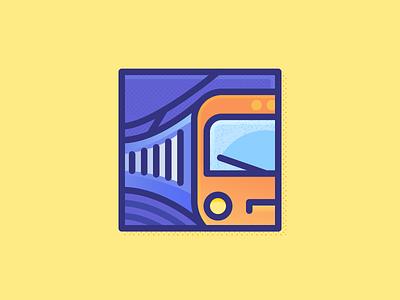 005 Subway city illustration train subway flat miguelcm dailychallenge