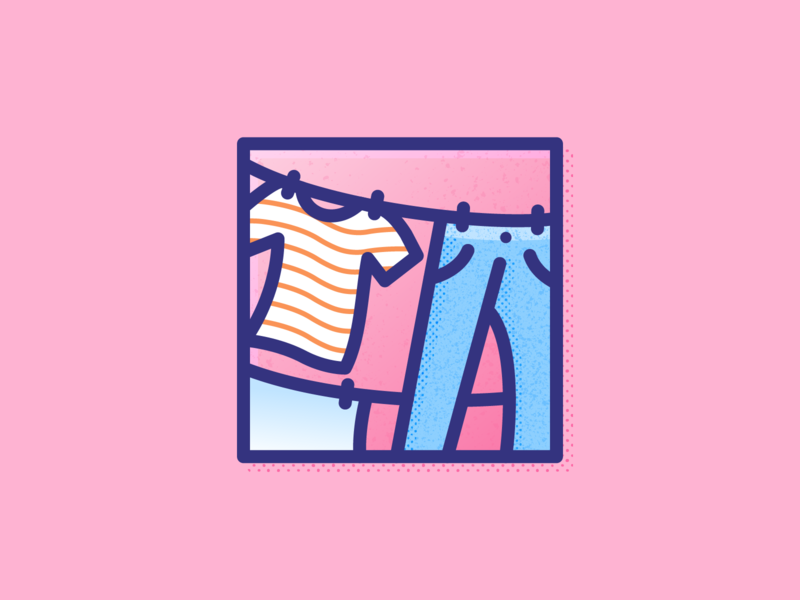 008 Laundry tshirt graphics jeans dailychallenge clothes laundry illustration illustrator miguelcm