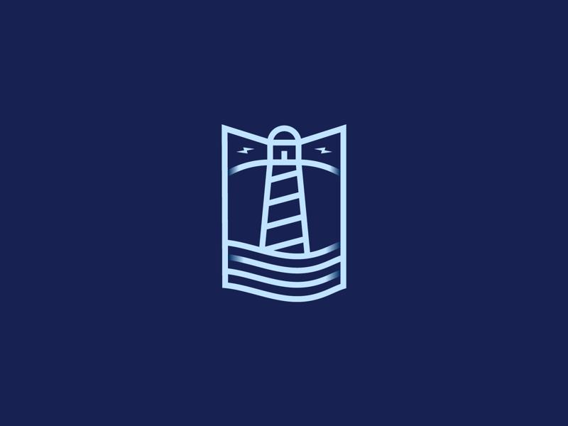 061 Lighthouse badge lines dailychallenge monogram lighthouse illustrator illustration miguelcm