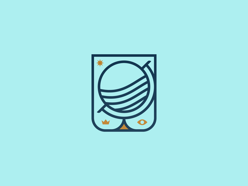 065 Globe daily challange wisdom badge monogram planet globe illustration illustrator miguelcm