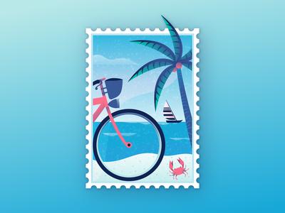 Beach Stamp