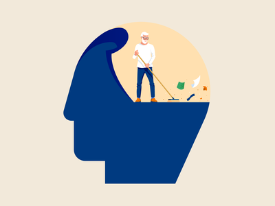 Alzheimer mental health brain header scene vector mind character flat alzheimer mental disease illustrator illustration miguelcm
