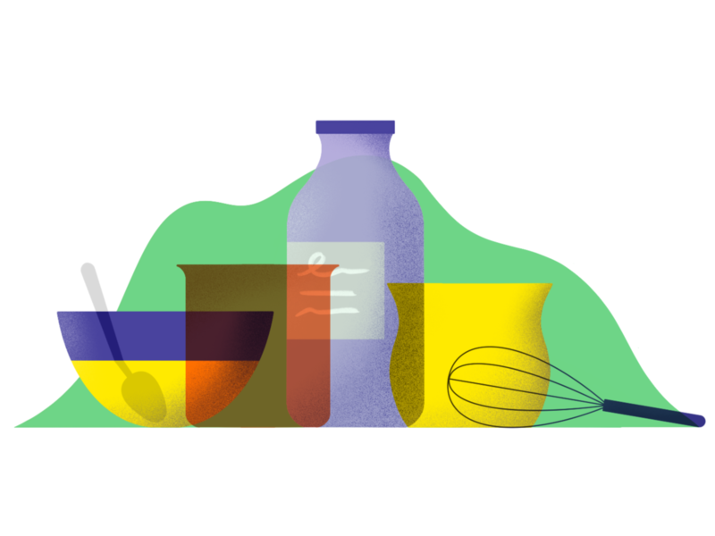 Secret potion pots liquid potion glass overlay stilllife illustration retrosupply procreate miguelcm