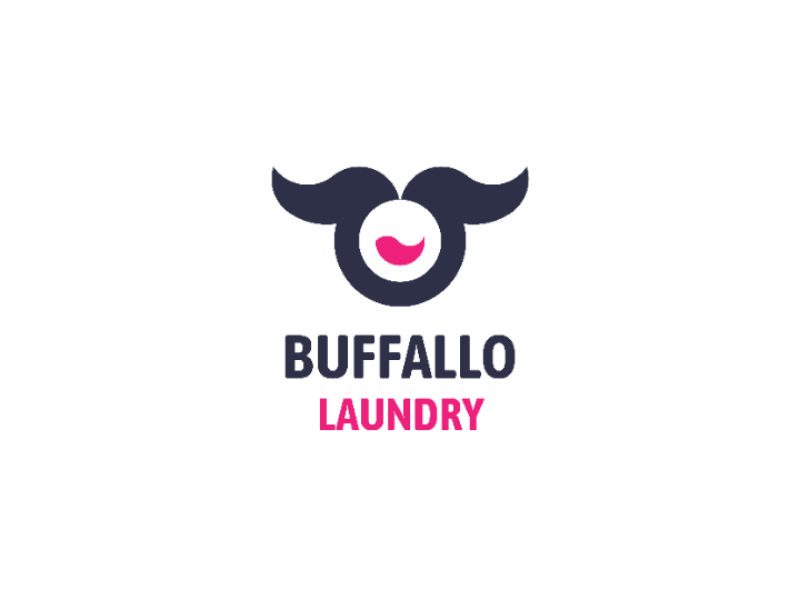 buffalo laundry logo design by falah rafi on dribbble buffalo laundry logo design by falah
