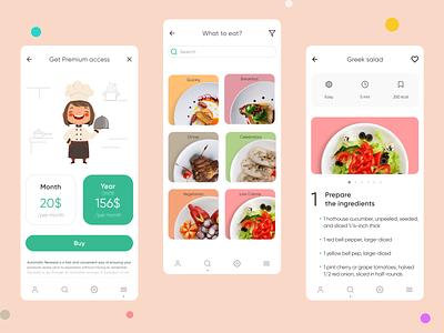 Recipe recipe app ui design