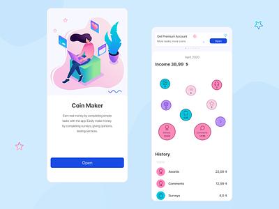 Activity Feed finance app design ui