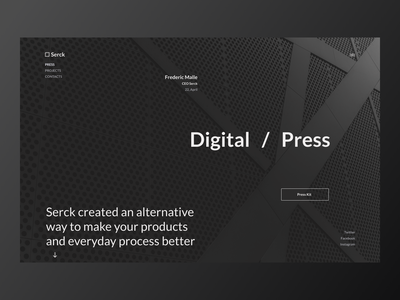 Press Page presspage design ui