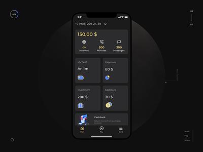 Main screen telecom redesign concept app design ui