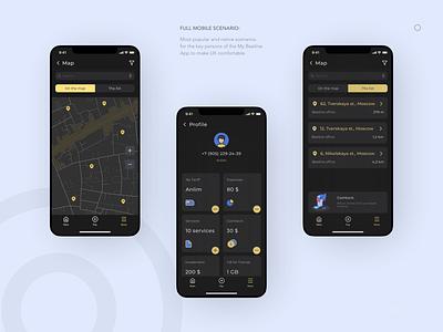 Telecom app map redesign concept telecom animation design app ui