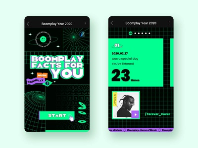 BP Music Facts For You design ui illustration