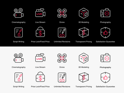 Icons design for ImageRevolver-0 illustrator web illustration app design tabbar icon ux ui