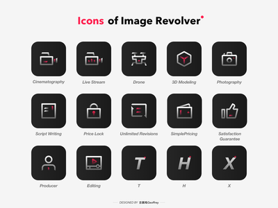 Icons design for ImageRevolver-1 web illustration app design tabbar icon ux ui