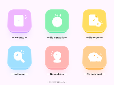 Empty Status ICONS emoticons illustrator web illustration app design icon ux ui