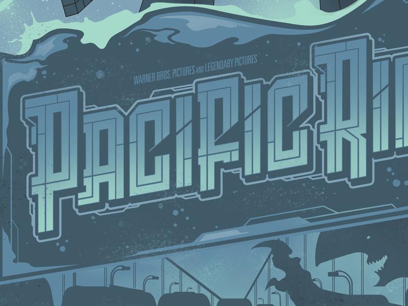 Pacific Rim pacific rim type custom lettering monster movie movie poster kaiju jaeger robot