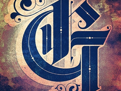 Type Fight Variant type fight g lettering type custom lettering ornate black letter typography gold texture
