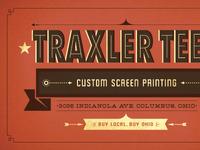 Traxler Tees Business Card