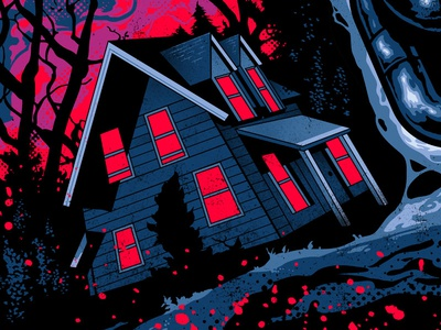 Friday the 13th Part 7  screen print illustration poster horror jason voorhees friday the 13th