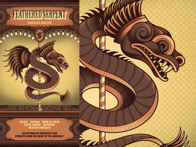 Flight Club - Feathered Serpent menu cocktail circus flight club