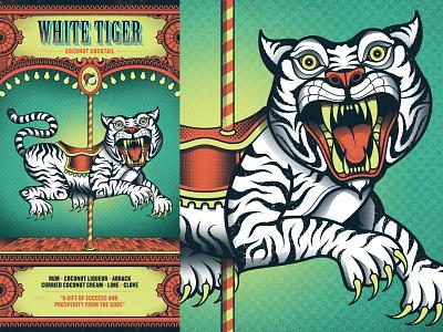 Flight Club - White Tiger menu cocktail circus flight club