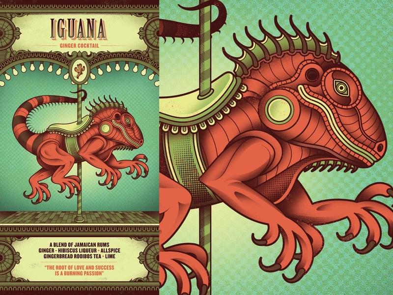 Flight Club - Iguana iguana menu cocktail circus flight club