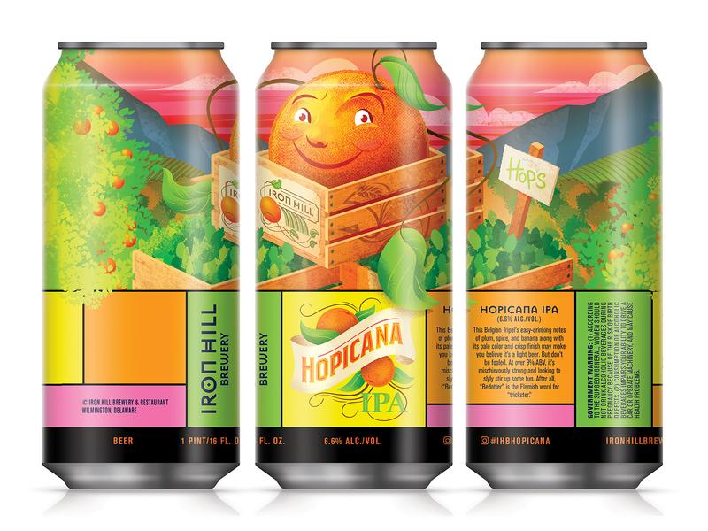 Hopicana IPA ipa hops orange packaging beer label beer can beer art beer