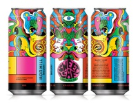 Sweet Leaf IPA psychedelia 70s sweet leaf ipa psychadelic illustration design packaging beer label beer can beer art beer