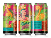 Tropical Blast Gose gose tropical beer label design illustration beer label beer can beer art beer