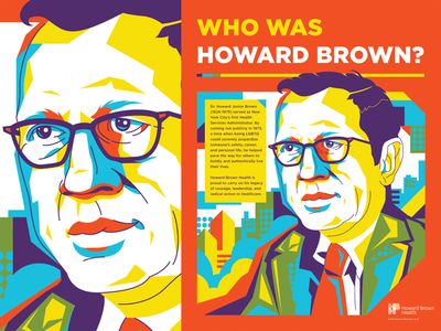 Dr. Howard Brown design typography face portrait poster illustration screen print