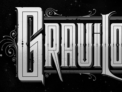 Dead Words: Graviloquence lettering typography custom type ornate dead words funeral