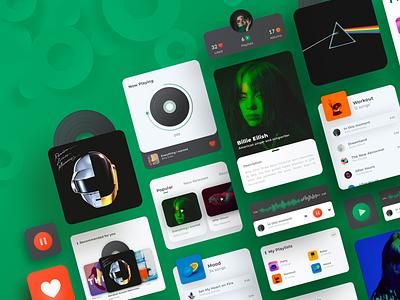 Music Player & Playlists ux ui design app