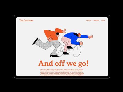 The Carltons flat graphic design branding logo vector ui illustration design