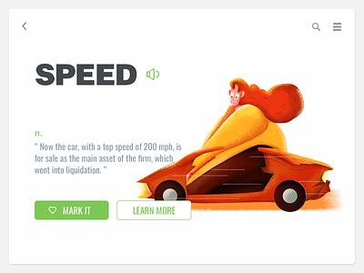 Speed illustration ui-design painting ui