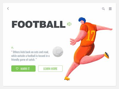 Football illustration ui-design painting ui