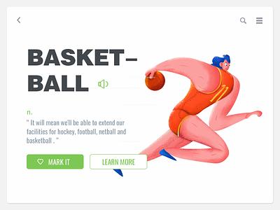 Basketball painting illustration ui-design ui