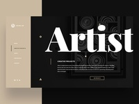 Personal website - Artist section