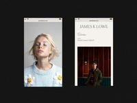 James K Lowe 2019 Website Refresh – Mobile