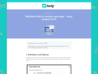 Wp Tasty Blog Redesign