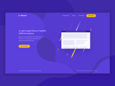 Movement Animation Library yellow purple animations front-end developer